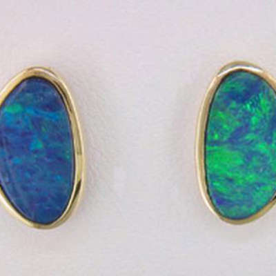 Australian Opal Doublet Earrings